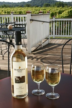 Hopewell Valley Wine with glasses